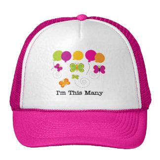 Butterflies 5th Birthday T-shirts and gifts Trucker Hat