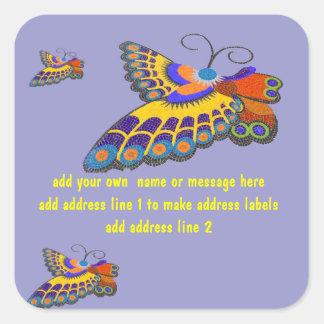 Butterflies Address Labels or Advertisement Square Sticker