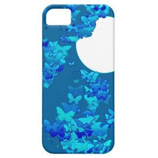 Butterflies against blue night sky, moonscape iPhone SE/5/5s case