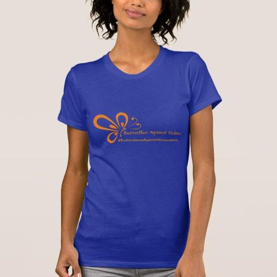 Butterflies Against Violence-Blue T-Shirt