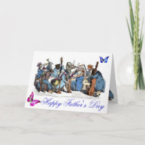 BUTTERFLIES AND,ANIMAL FARM ORCHESTRA FATHER'S DAY CARD