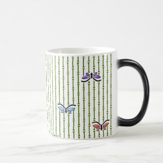 butterflies and bamboo curtain magic mug