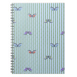 butterflies and bamboo curtain note books