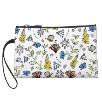 Butterflies and Bees Wristlet