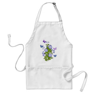Butterflies and Bell Flowers Adult Apron