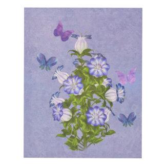 Butterflies and Bell Flowers Panel Wall Art