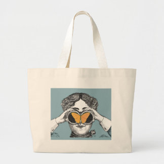 Butterflies and Binoculars Jumbo Tote Bag