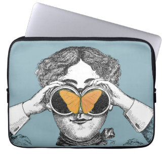 Butterflies and Binoculars Laptop Sleeve