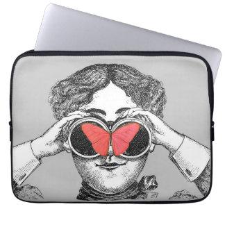 Butterflies and Binoculars Laptop Sleeves