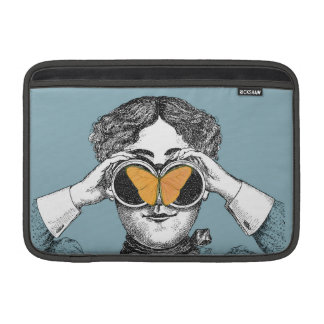 Butterflies and Binoculars MacBook Sleeve