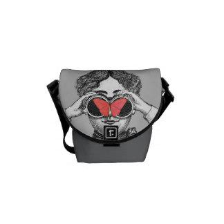 Butterflies and Binoculars Messenger Bags