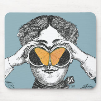 Butterflies and Binoculars Mouse Pad