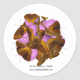 Butterflies and Blooms Classic Round Sticker