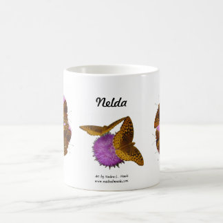 Butterflies and Blooms Classic White Coffee Mug