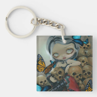 """Butterflies and Bones"" Keychain Acrylic Keychains"