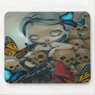 """Butterflies and Bones"" Mousepad"