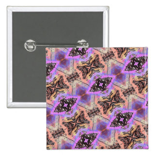 BUTTERFLIES AND BUGS ABSTRACT PINBACK BUTTONS
