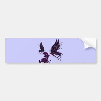 Butterflies and Carnations Bumper Sticker