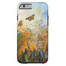 flowers, chamomile, butterflies, monarch butterflies, ginette, yellow, floral, artsy, artistic, feminine, for girls, nature, garden, [[missing key: type_casemate_cas]] com design gráfico personalizado