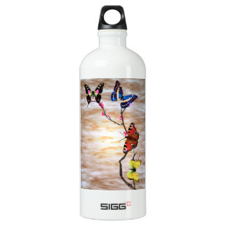 Butterflies and Cherry Blossoms Aluminum Water Bottle
