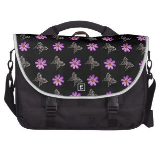 Butterflies and cosmos flowers laptop computer bag