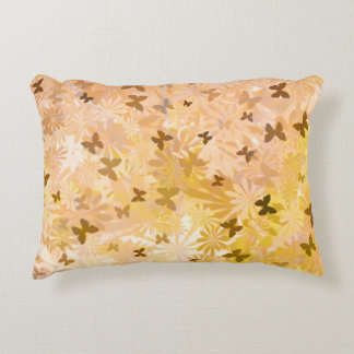 Butterflies and Daisies by Shirley Taylor Decorative Pillow