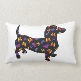 Butterflies And Doxies Pillow