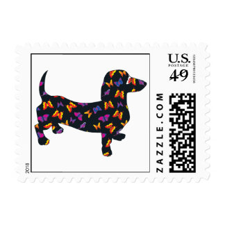 Butterflies And Doxies Postage