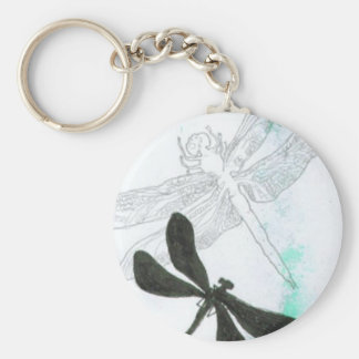 butterflies and dragonflies keychain