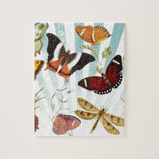Butterflies And Dragonflies vintage Jigsaw Puzzle