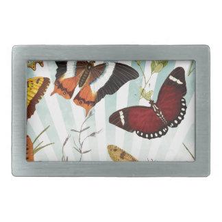 Butterflies And Dragonflies vintage Rectangular Belt Buckle