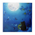 Butterflies and Fairy Lanterns Small Square Tile