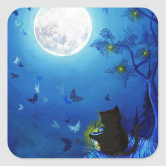 Butterflies and Fairy Lanterns Square Sticker