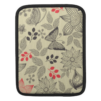 butterflies and flowers 2 sides iPad Bag iPad Sleeve