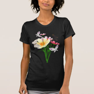 Butterflies and Flowers Apparel T-Shirt