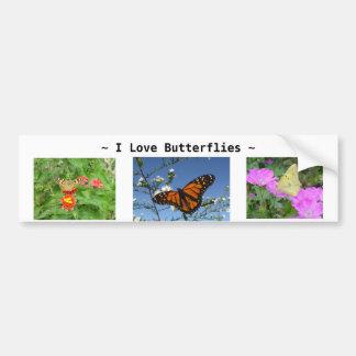 Butterflies and flowers Bumper Sticker