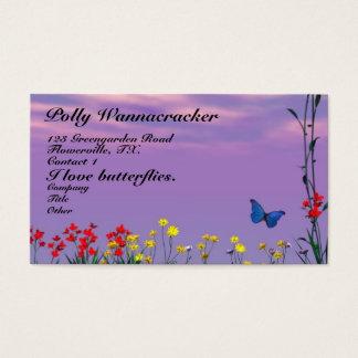 Butterflies and Flowers Business Card