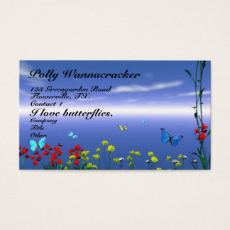 Butterflies and Flowers Business Card