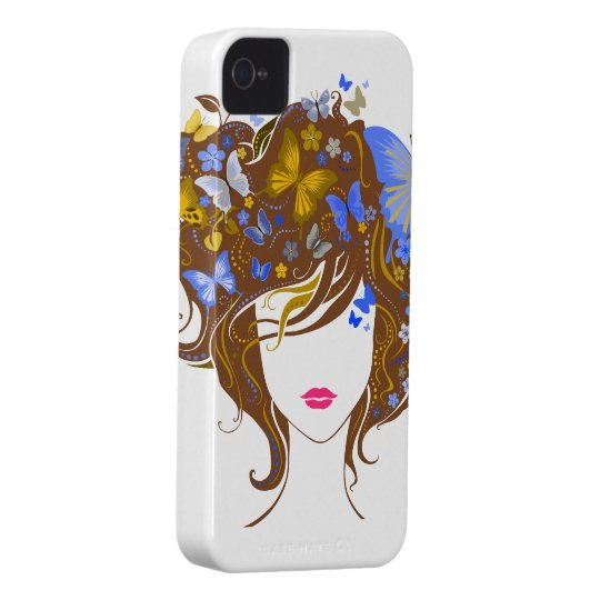 Butterflies and Flowers Case-Mate iPhone 4 Case