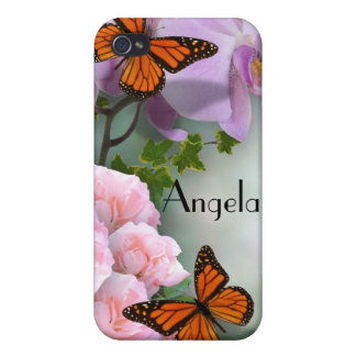 Butterflies and flowers custom  iphone case