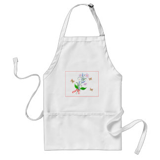 Butterflies and Flowers Design Adult Apron