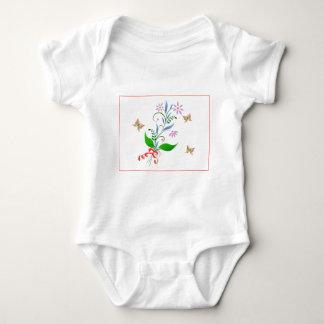Butterflies and Flowers Design Baby Bodysuit