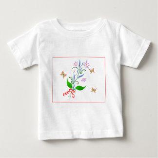 Butterflies and Flowers Design Baby T-Shirt