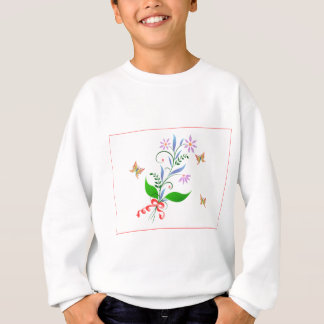 Butterflies and Flowers Design Sweatshirt