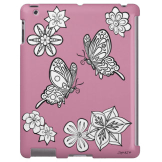 Butterflies and Flowers: DIY Coloring Sonja A.S.