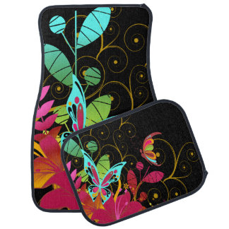 Butterflies and Flowers Floor Mat