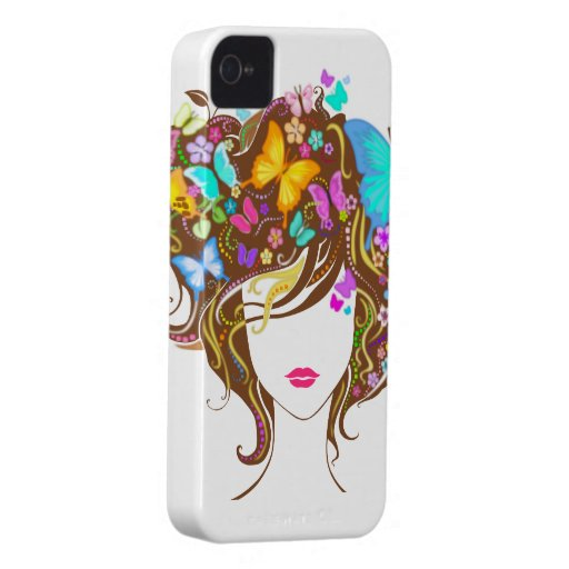Butterflies and Flowers iPhone 4 Case-Mate Case