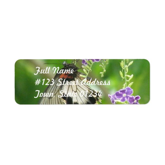 Butterflies and Flowers Mailing Label