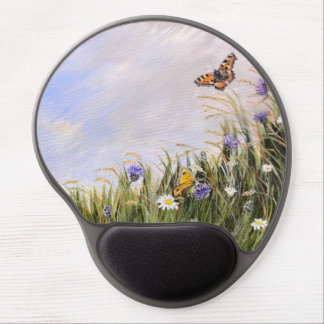 Butterflies and flowers mouse gel mouse pad