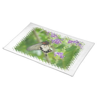 Butterflies and Flowers Placemat Cloth Placemat